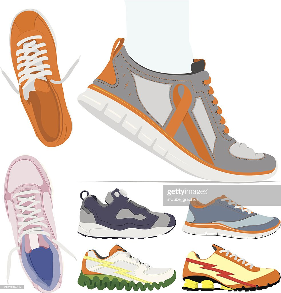 Vector running shoes collection
