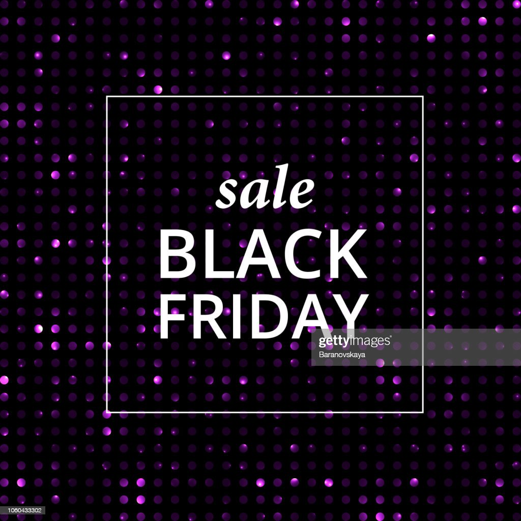 Vector sale shining banner black Friday label