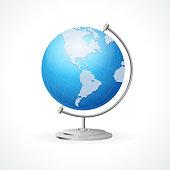 Vector school Globe isolated on white