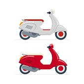 Vector scooter illustration.