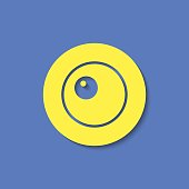 Vector scrambled eggs icon. Food icon. Eps10