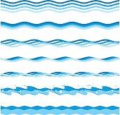Vector sea waves.