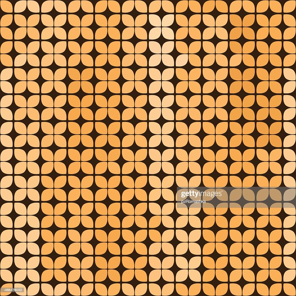 Vector. Seamless abstract background in yellow and brown colors.