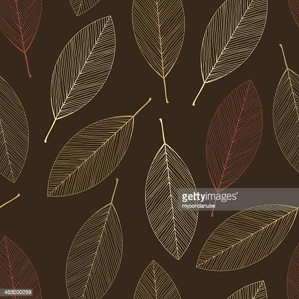 vector seamless autumn leavess wallpaper