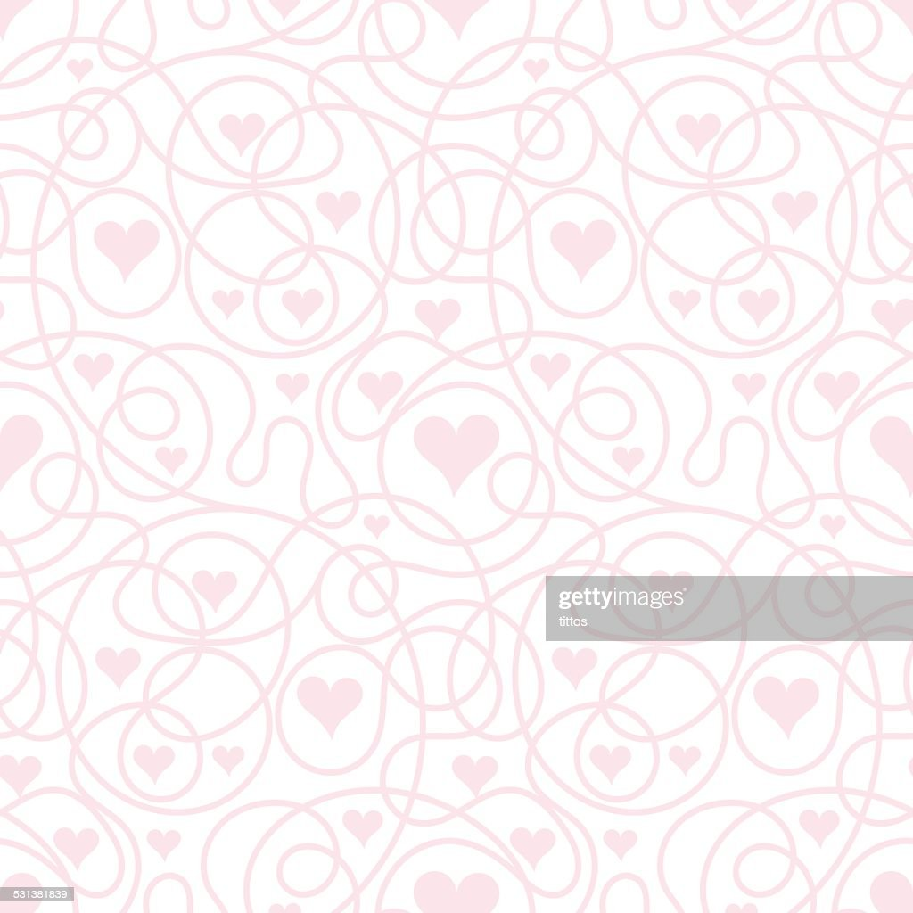 Vector seamless background heart shape
