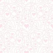Vector seamless background heart shape