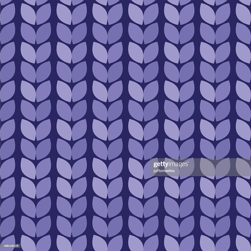 Vector. Seamless background. Knitted blue surface