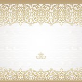 Vector seamless border in east style.