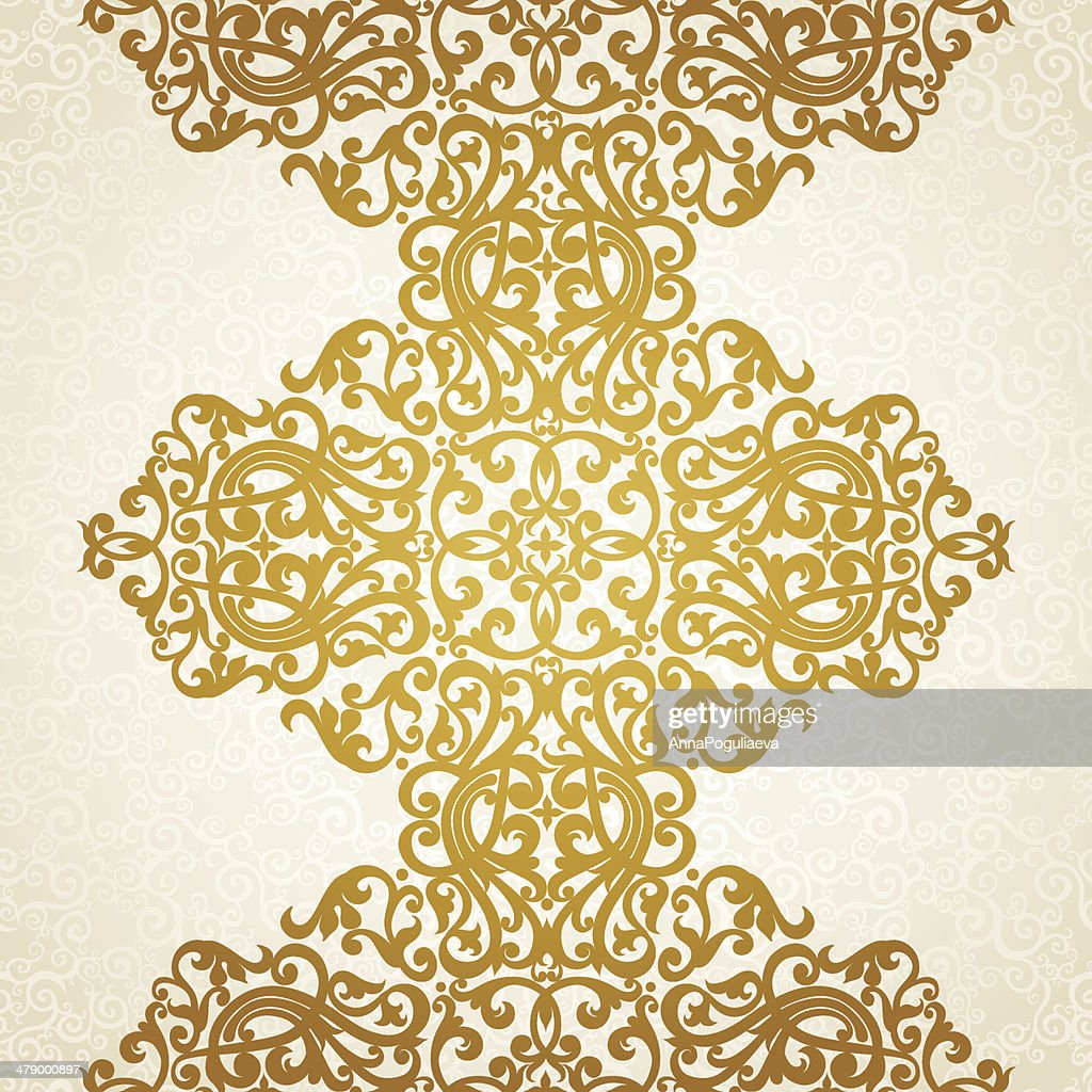 Vector seamless border in Victorian style