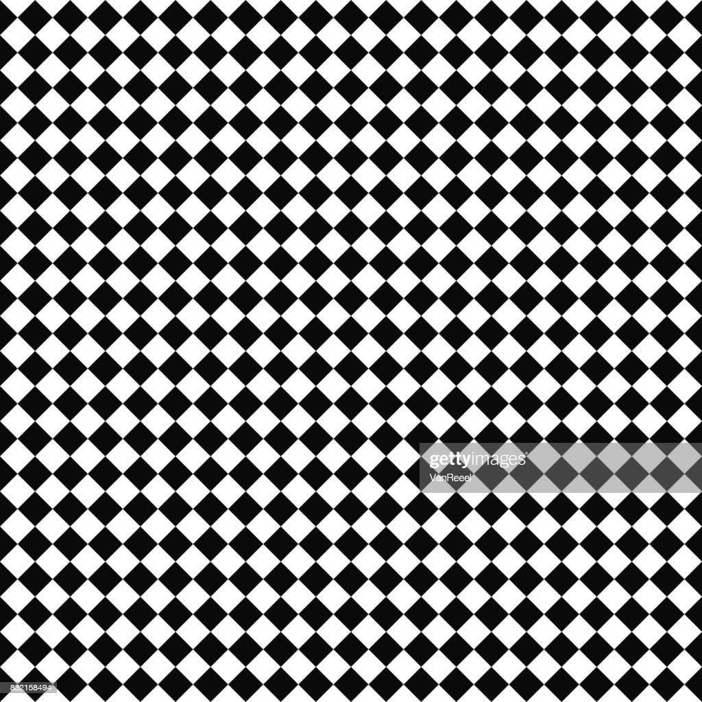 Vector seamless checker pattern. Geometric texture. Black-and-white background. Monochrome design.