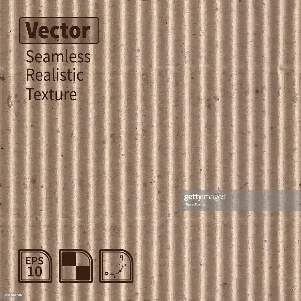 Vector seamless corrugated cardboard photo texture