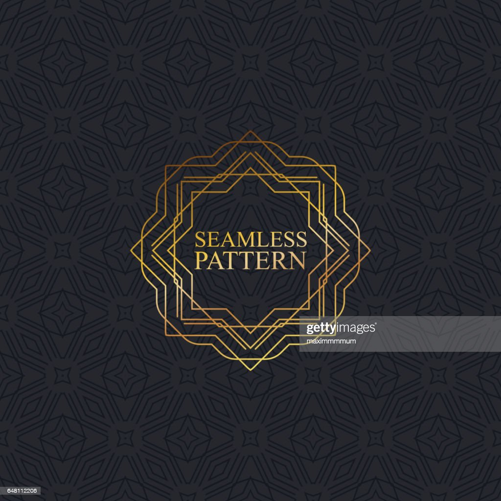 Vector seamless elegant pattern for package or textile design.