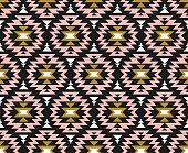 Vector seamless ethnic pattern. Tribal design for wallpaper, wrap paper or fabric. Boho geometric style.