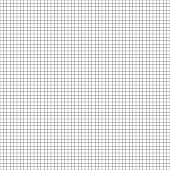 Vector seamless geometric pattern. Grid texture. Black-and-white graph paper background. Monochrome checkered paper design.