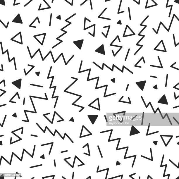 vector seamless geometric pattern illustration - 1990 1999 stock illustrations