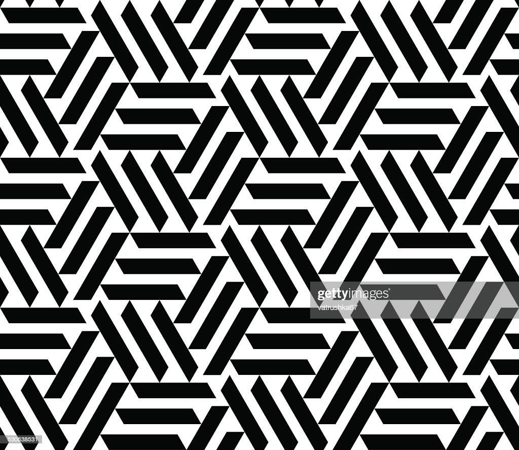 Vector seamless geometric pattern. Opt Art