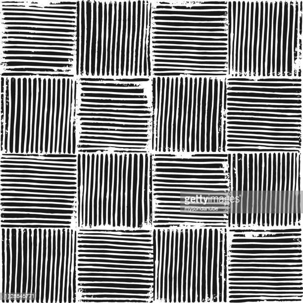 Vector seamless grunge blockprint texture illustration.