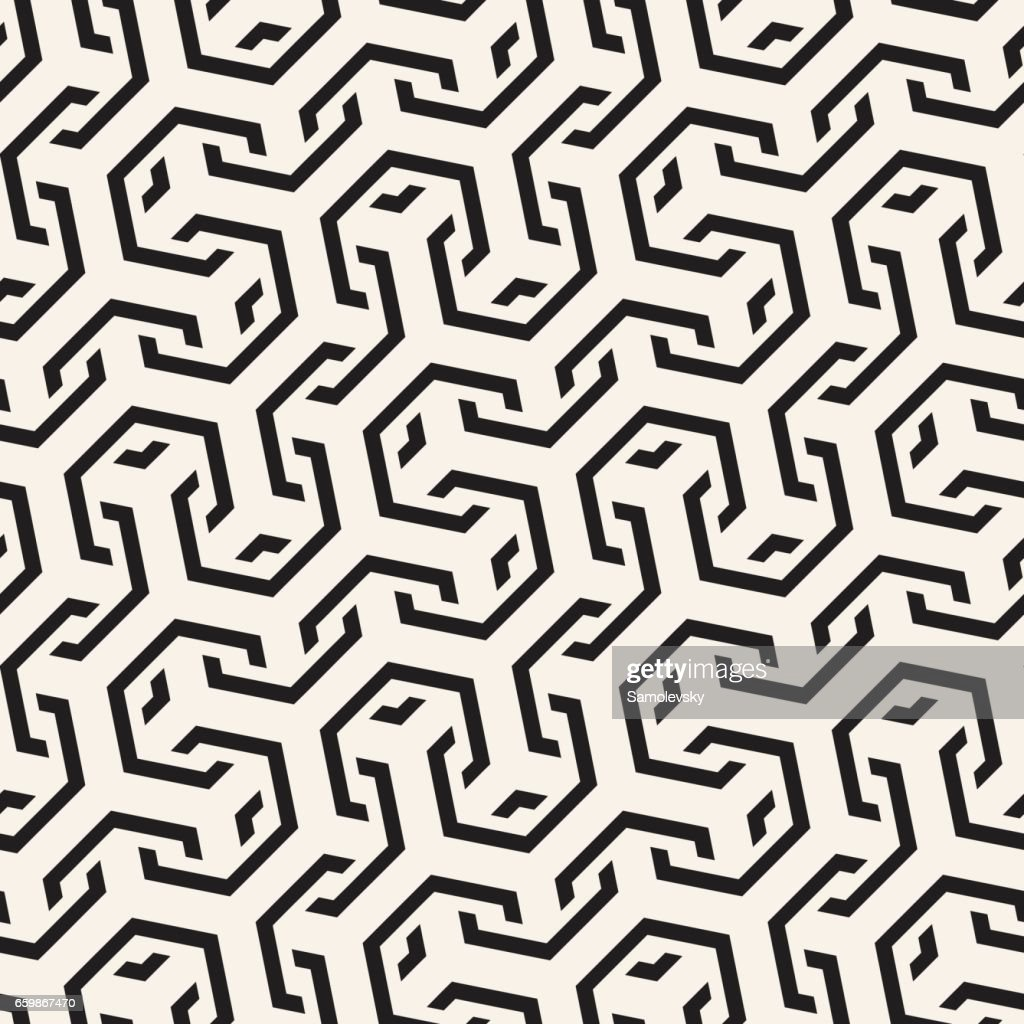 Vector Seamless Interlacing Lines Pattern Repeating