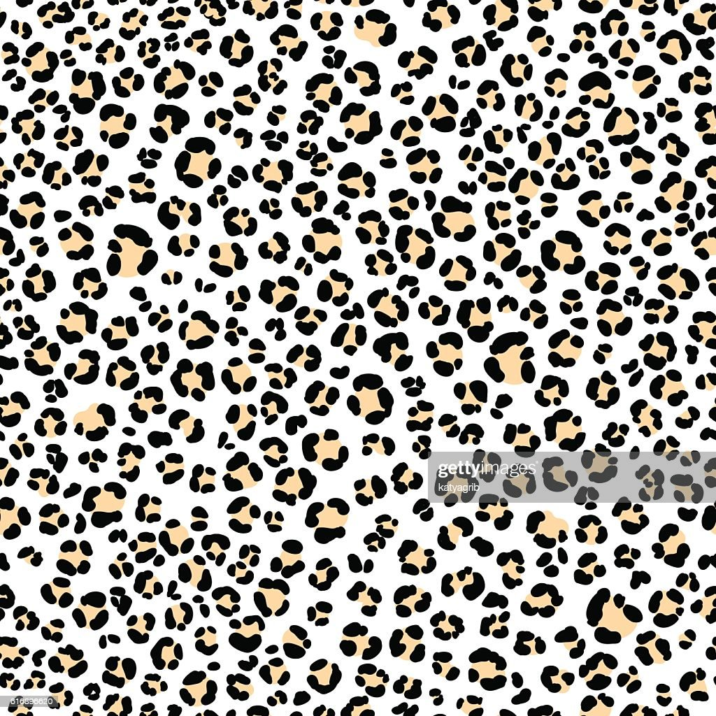 vector seamless leopard fur pattern