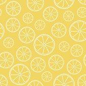 vector seamless orange pattern