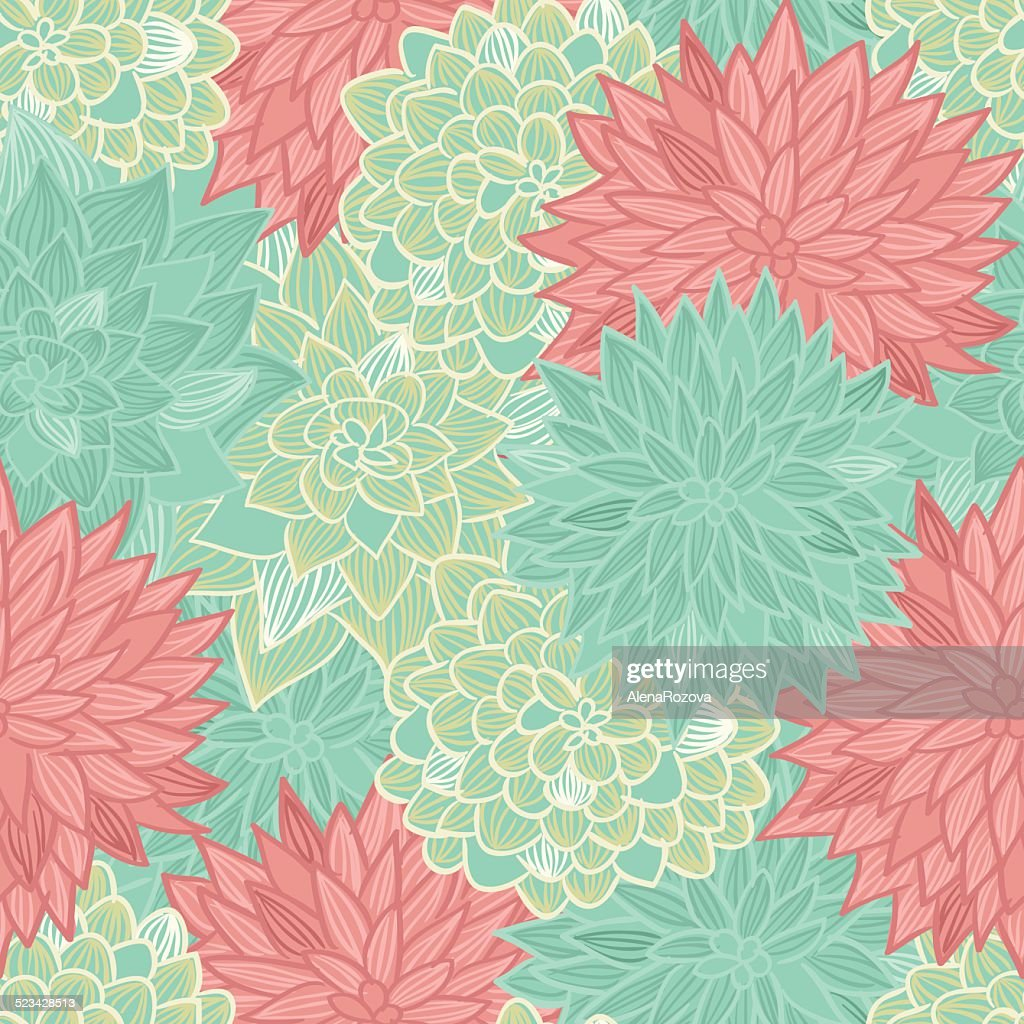 Vector Seamless Pastel Floral Background High Res Vector Graphic