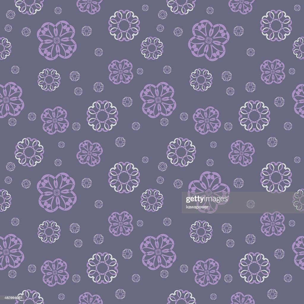 Vector seamless pattern - abstract floral background