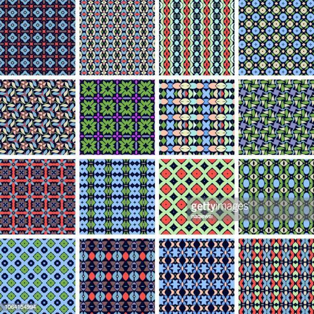 ベクターのシームレスなパターン コレクション - ペーズリー点のイラスト素材/クリップアート素材/マンガ素材/アイコン素材