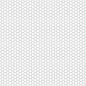 Vector seamless pattern. Hexagon grid texture. Black-and-white background. Monochrome honeycomb design.