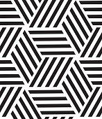 Vector seamless pattern. Modern stylish line, hexagon geometric