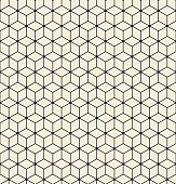 Vector seamless pattern. Modern stylish texture. Repeating Hexagon