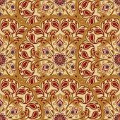 Vector seamless pattern of mandalas.