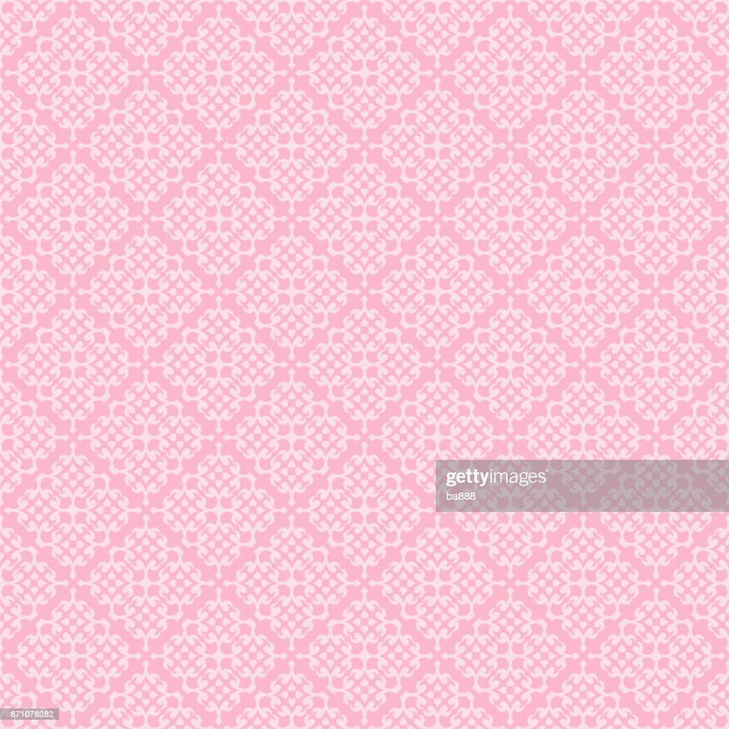 vector seamless pattern, pink background