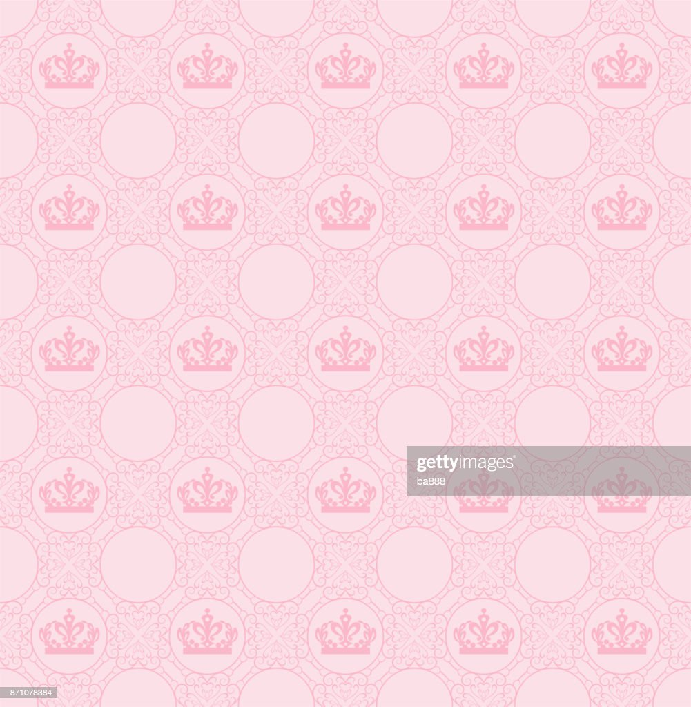 vector seamless pattern pink background