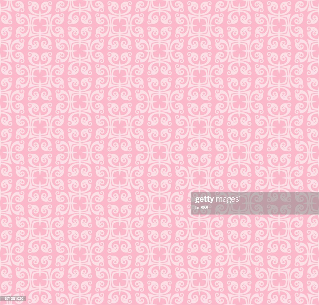 vector seamless pattern, pink color, abstract background
