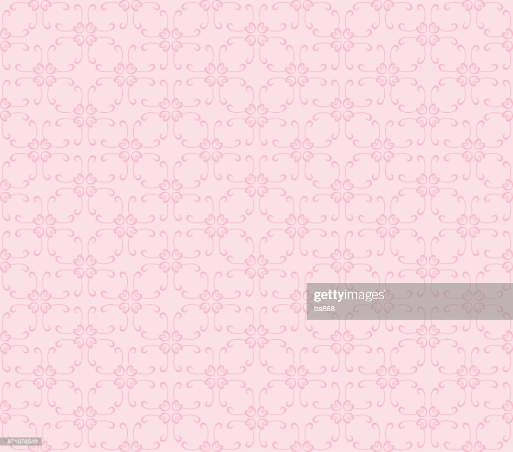 vector seamless pattern, pink color, simple design, wallpaper background