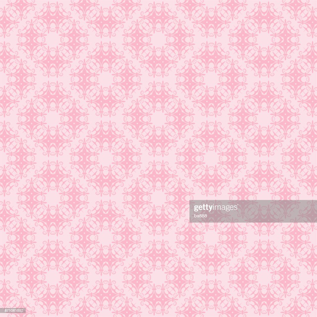 vector seamless pattern, pink color