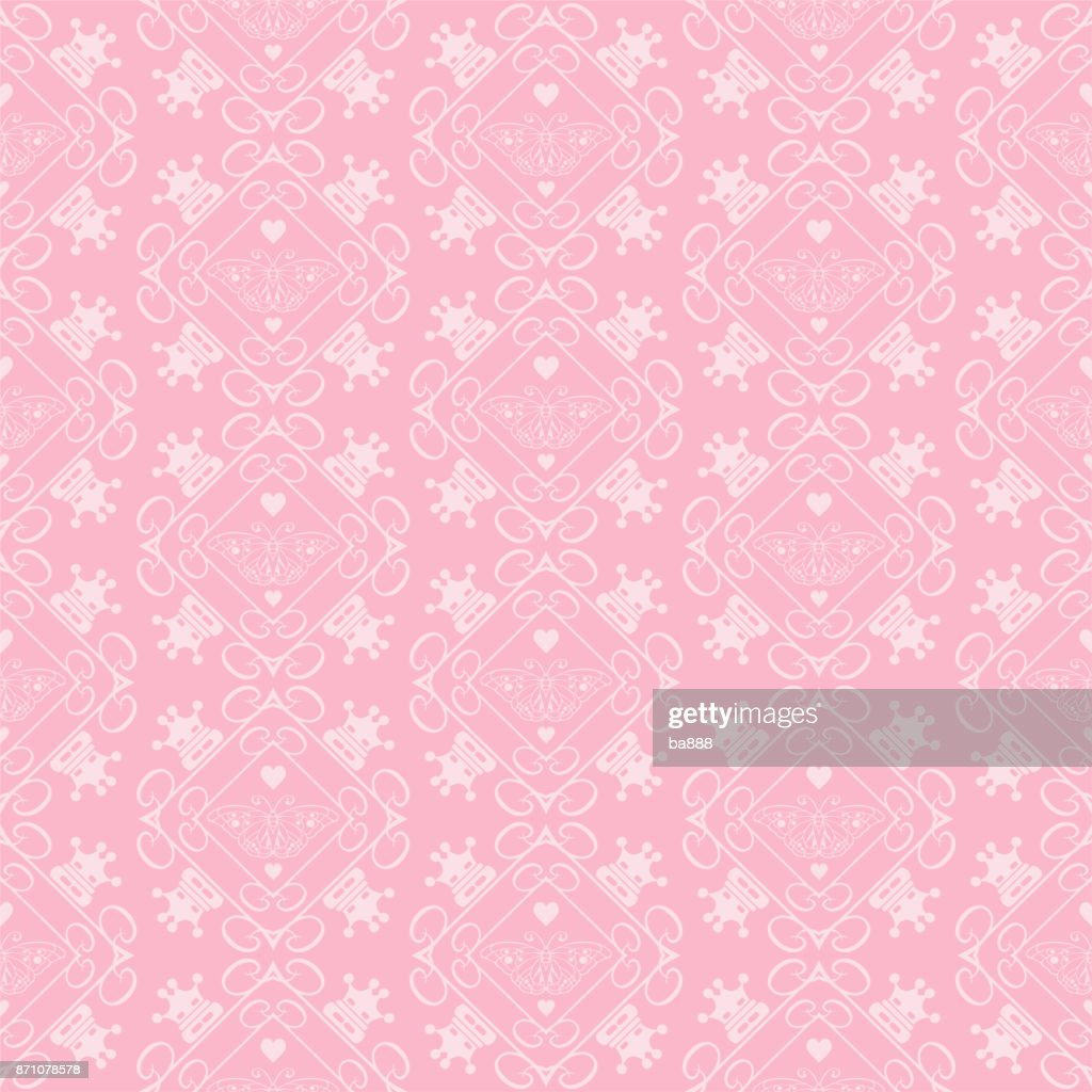 vector seamless pattern pink color wallpaper background