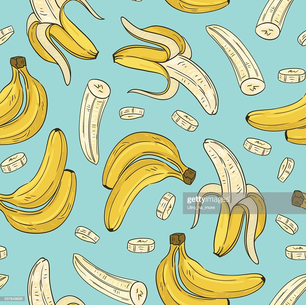 Vector seamless pattern with banana.