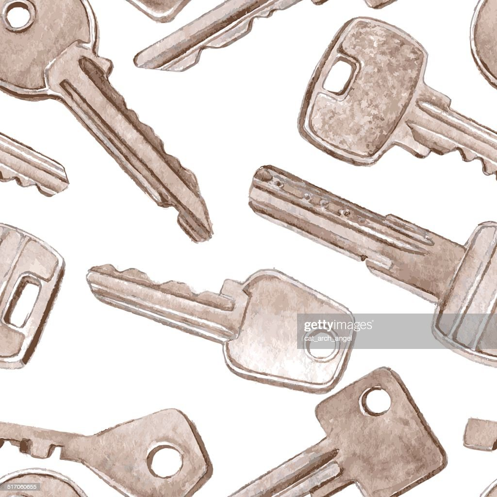 vector seamless pattern with different keys