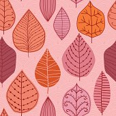 Vector seamless pattern with leaf,autumn