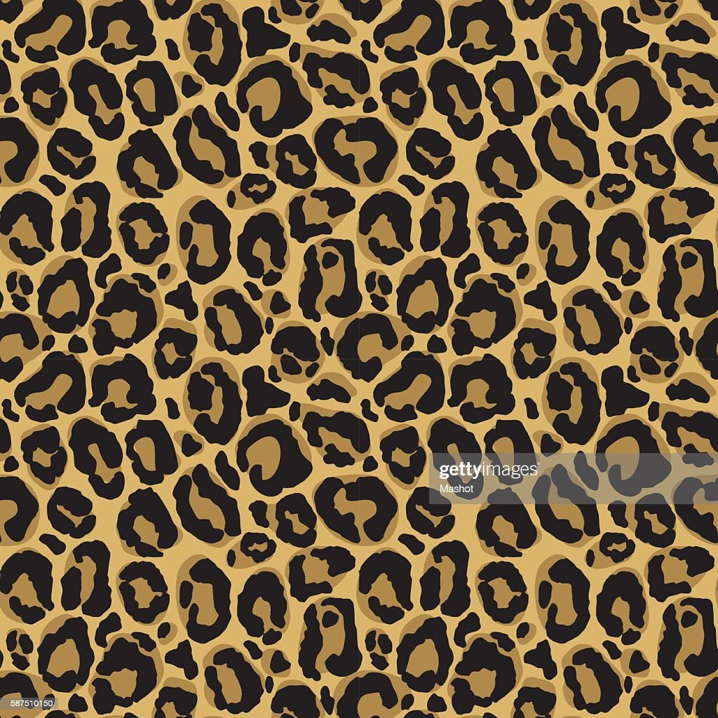 Vector seamless pattern with leopard fur texture.