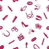 Vector Seamless Sex Shop Pattern