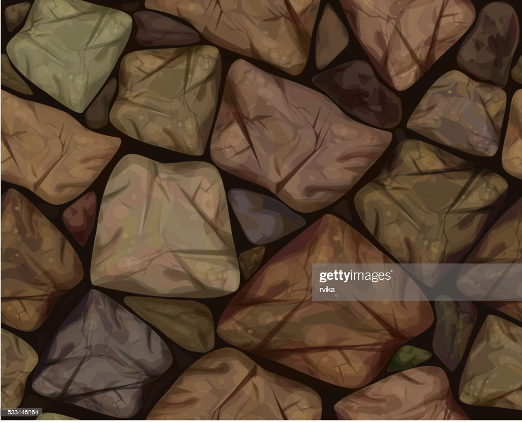 Vector seamless texture brown stonewall.