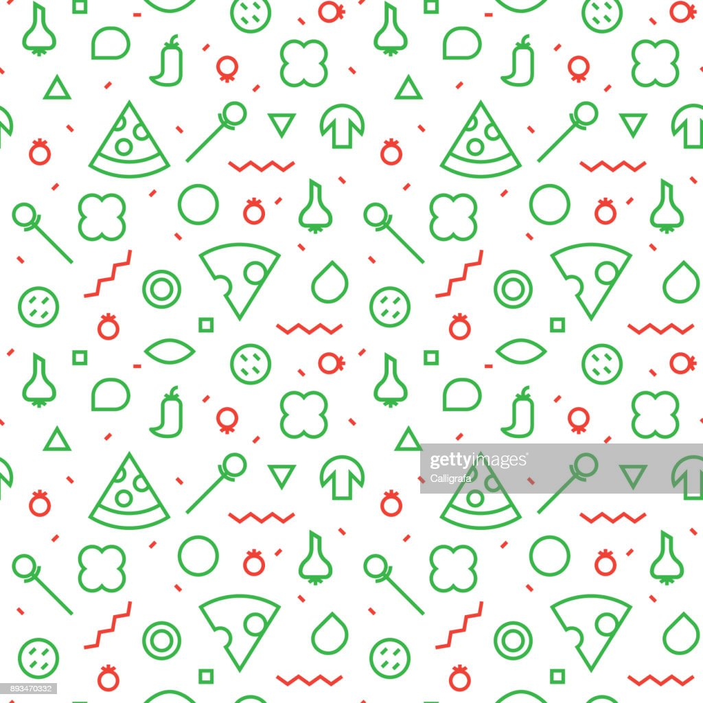 Vector Seamless texture. Slices and various ingredients.