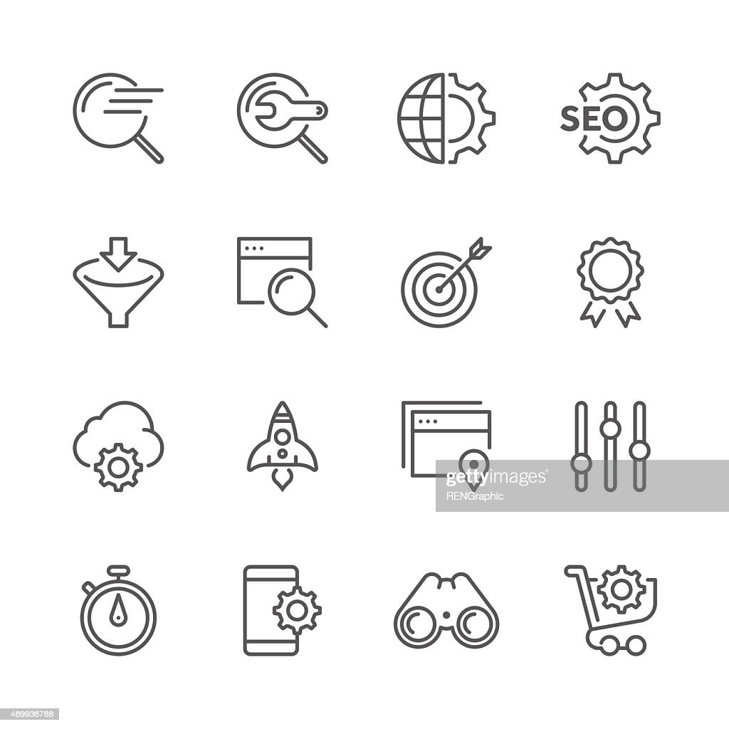 Vector SEO Concept | Line icon Series