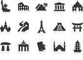 Vector series of landmark icons