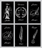 vector set design elements for lawyers business cards