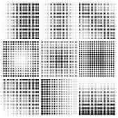 Vector set halftone effect
