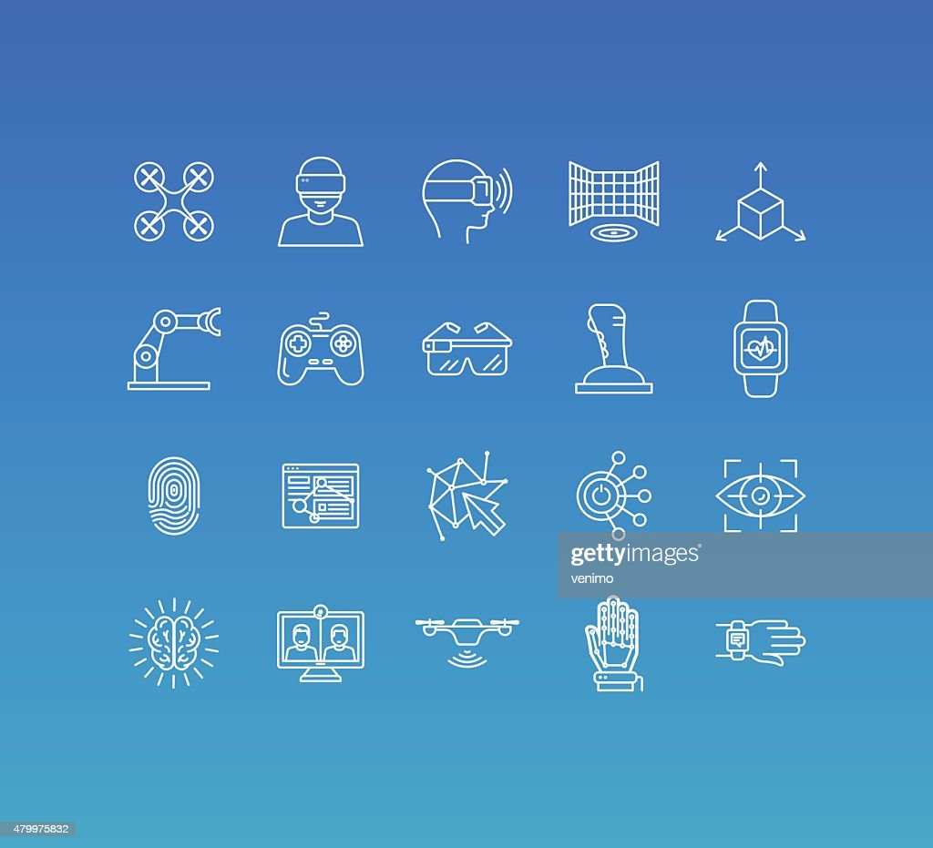 Vector set of 20 icons