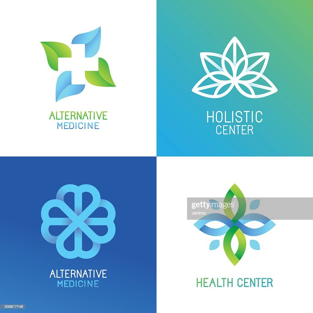 Vector set of abstract and emblems